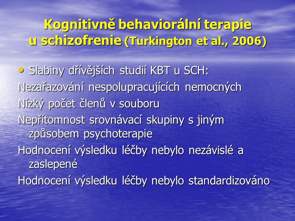 Kognitivně behaviorální terapie u schizofrenie (Turkington et al
