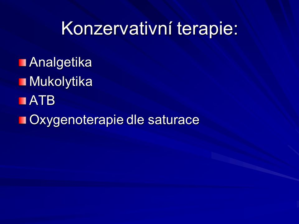 Konzervativní terapie: