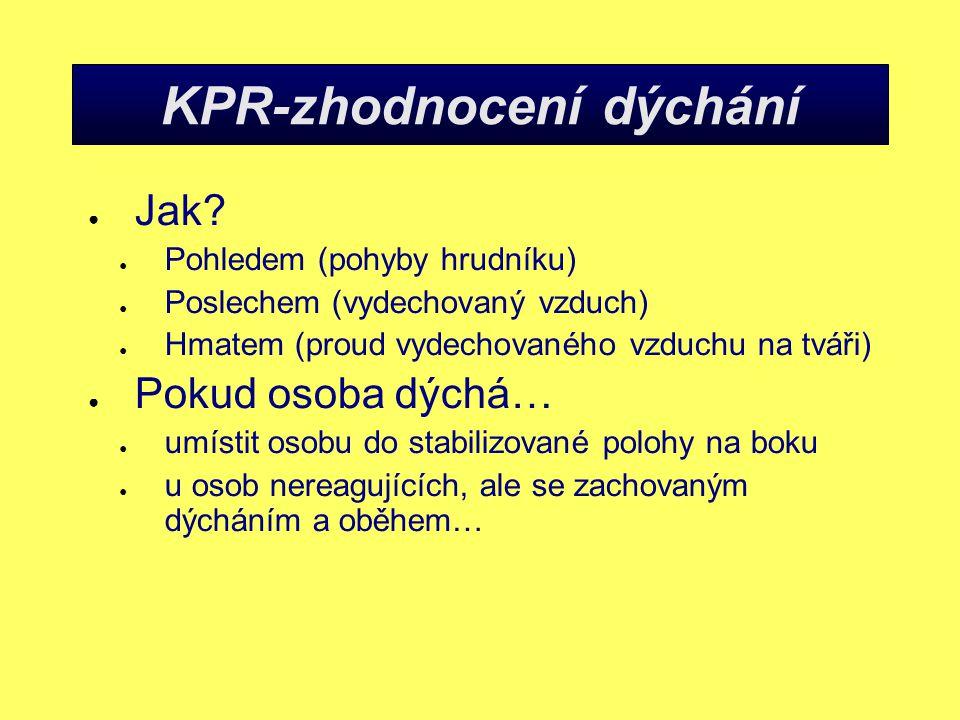 KPR-zhodnocení dýchání