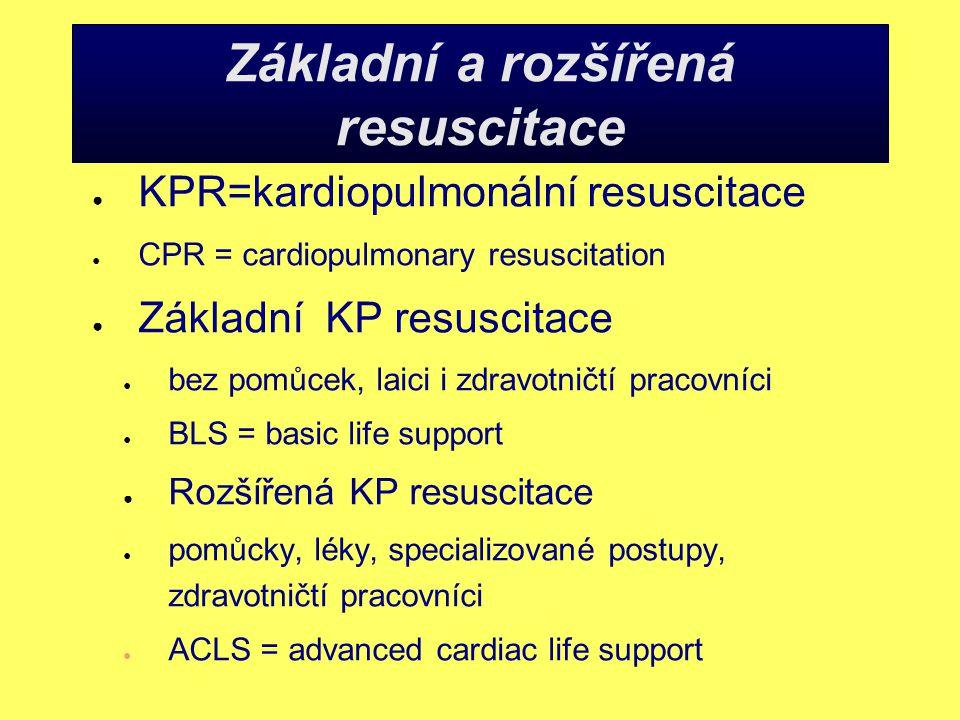 Základní a rozšířená resuscitace