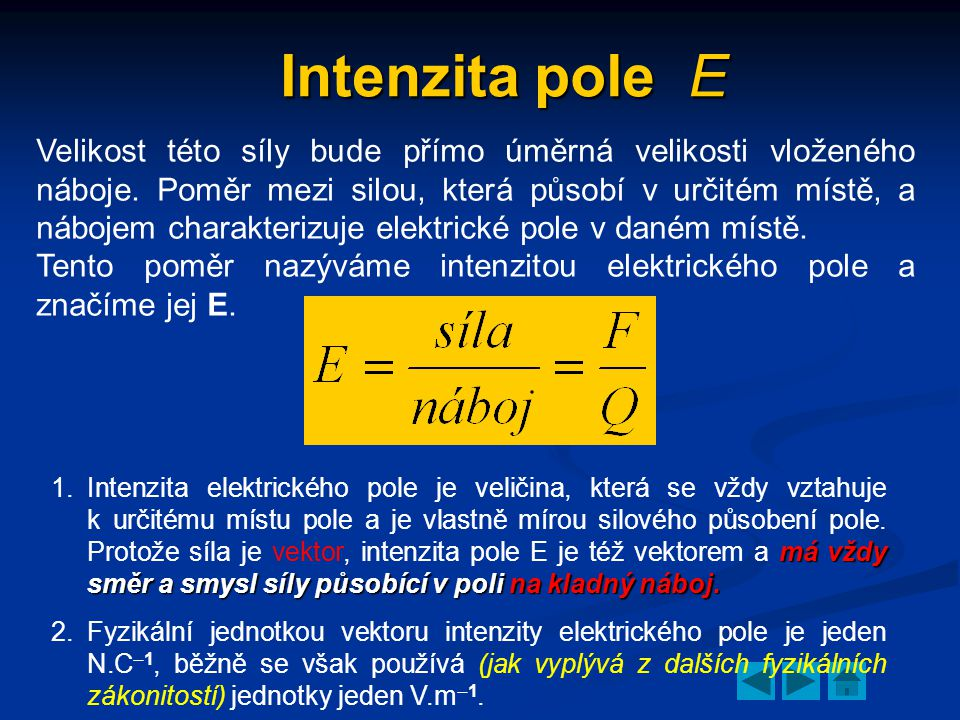 Intenzita pole E
