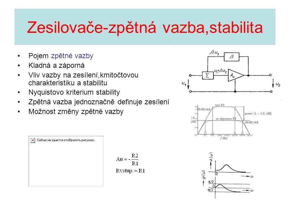 Zesilovače-zpětná vazba,stabilita