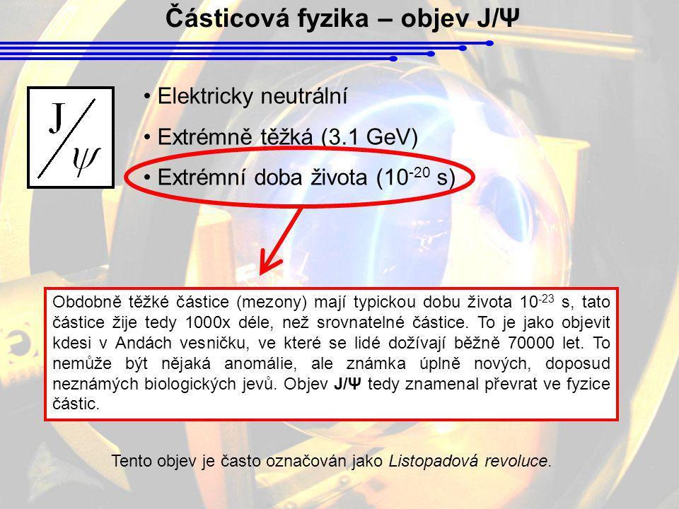 Částicová fyzika – objev J/Ψ