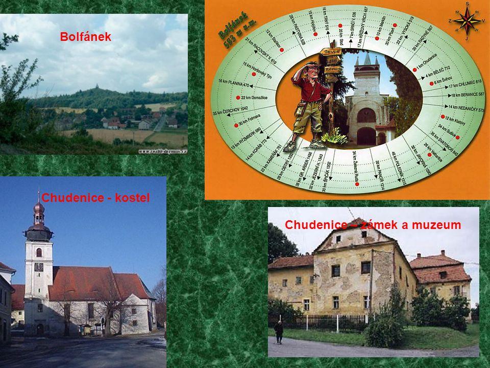 Bolfánek Chudenice - kostel Chudenice – zámek a muzeum