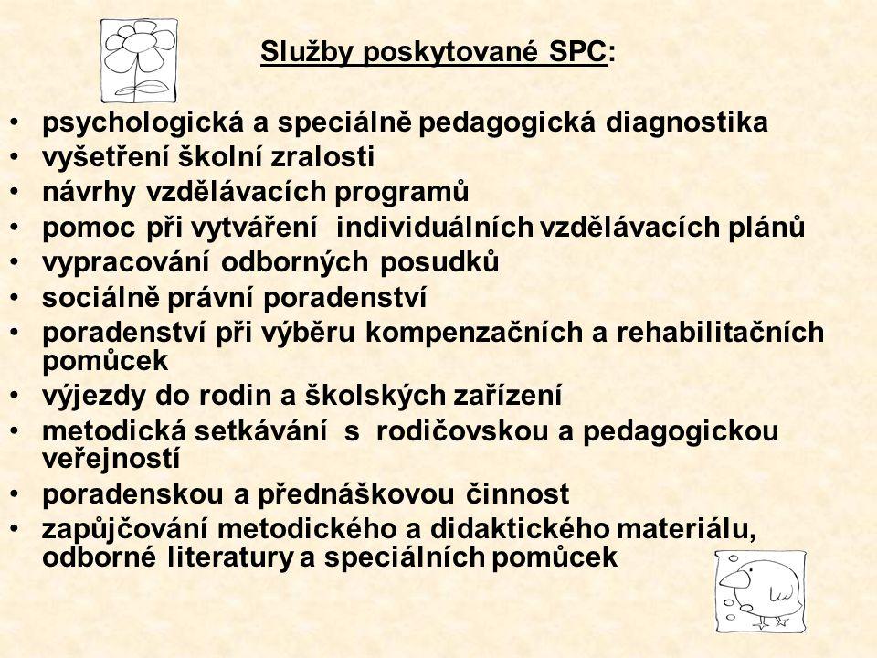 Služby poskytované SPC: