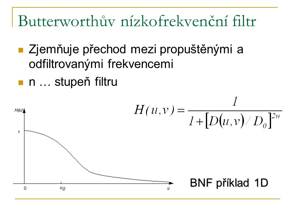Butterworthův nízkofrekvenční filtr