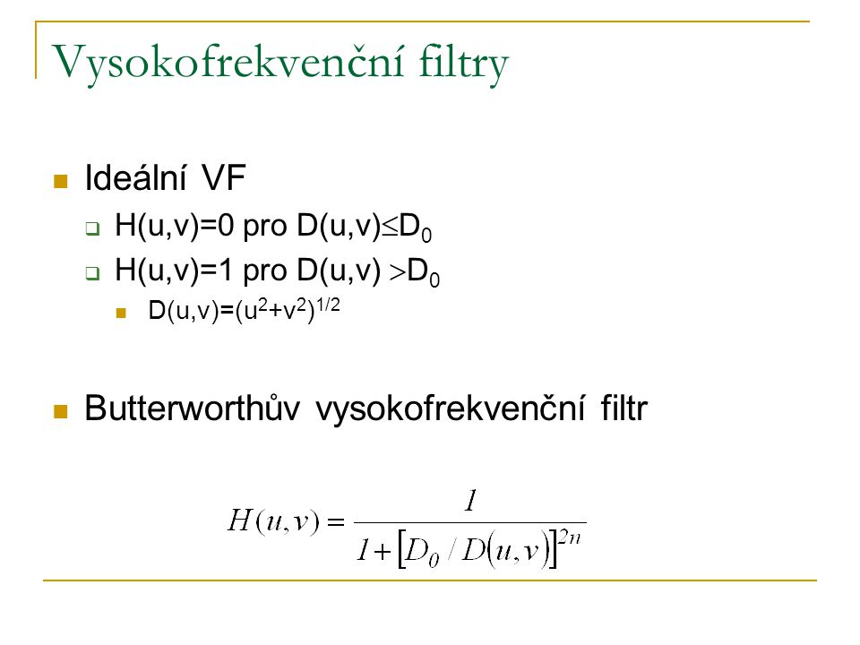 Vysokofrekvenční filtry