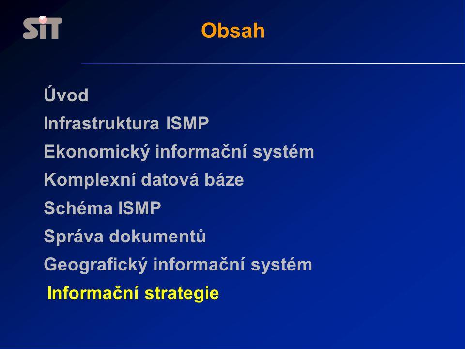 Obsah Úvod Infrastruktura ISMP Ekonomický informační systém