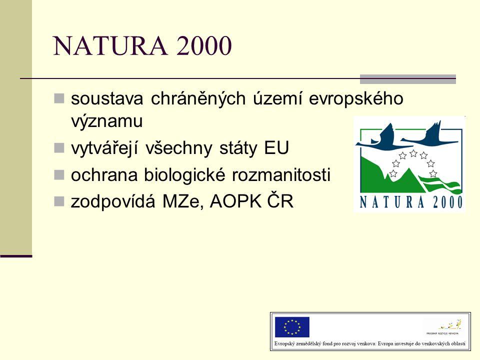 NATURA 2000 soustava chráněných území evropského významu