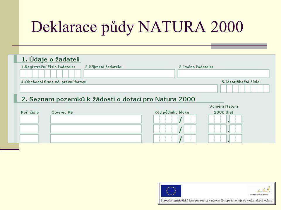 Deklarace půdy NATURA 2000
