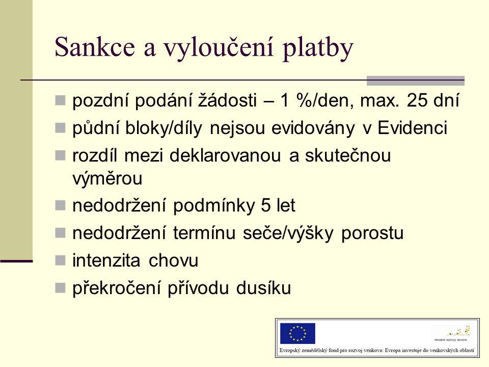 Sankce a vyloučení platby