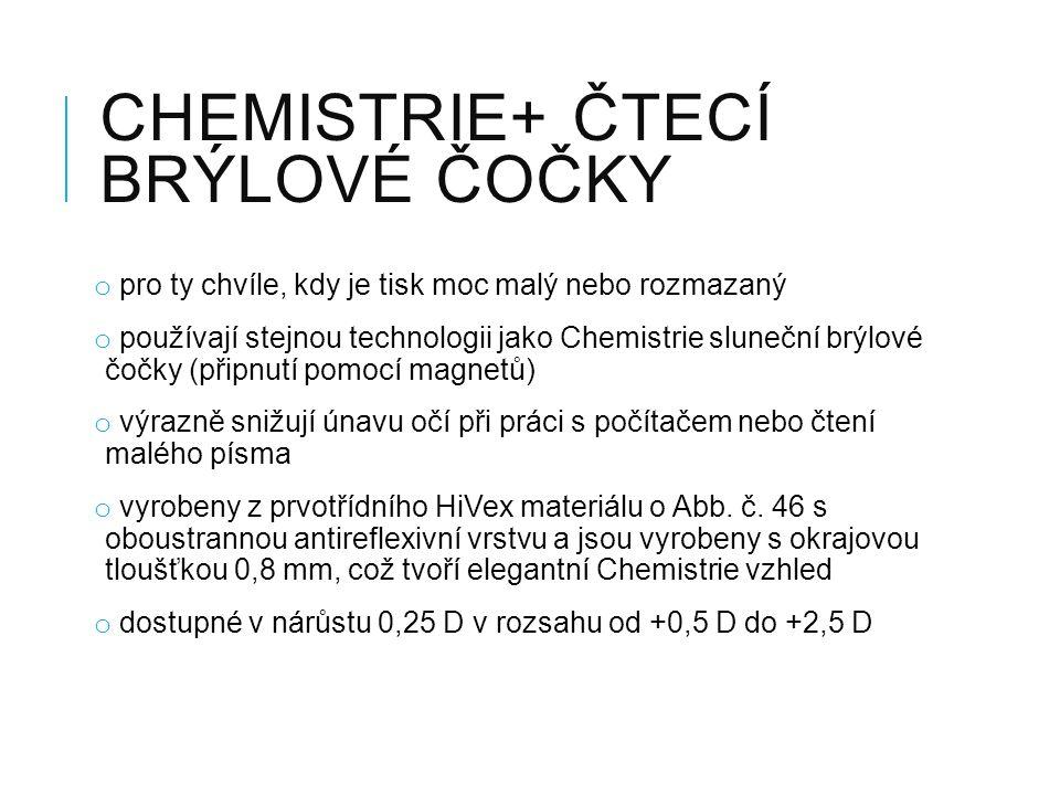 Chemistrie+ čtecí brýlové čočky