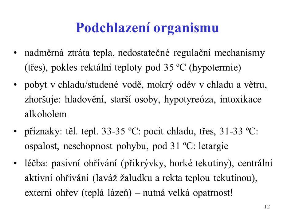 Podchlazení organismu