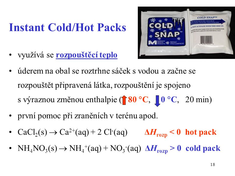 Instant Cold/Hot Packs