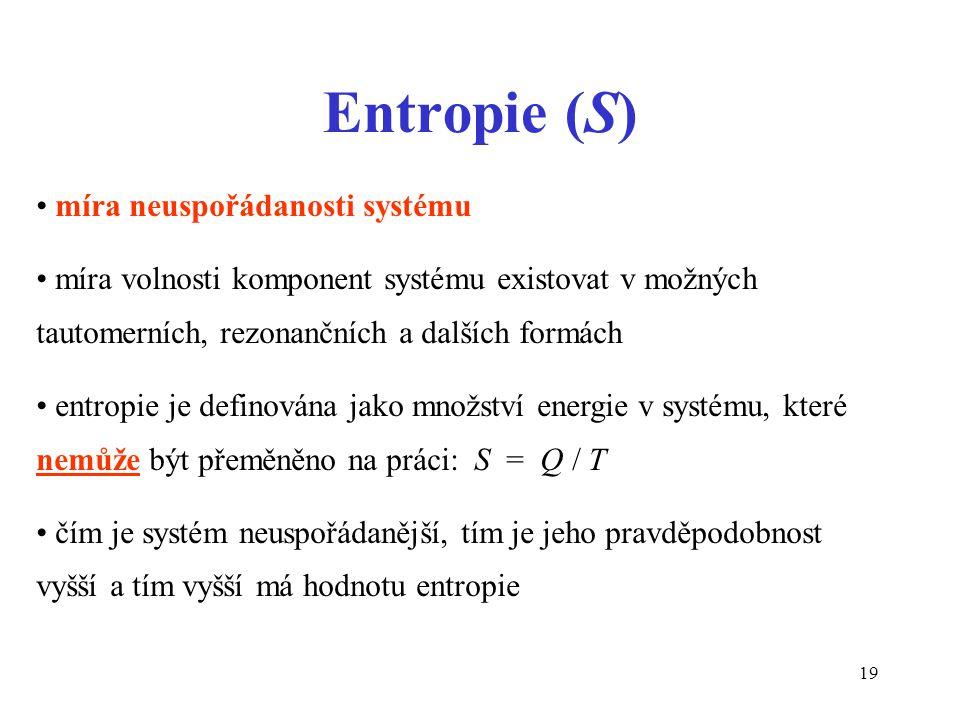 Entropie (S) míra neuspořádanosti systému