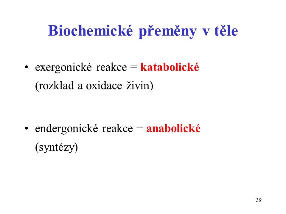 Biochemické přeměny v těle