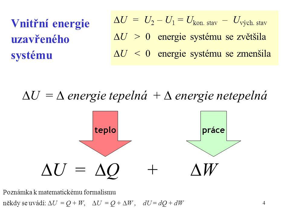 Vnitřní energie uzavřeného systému