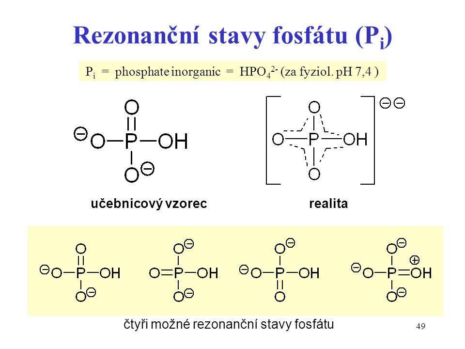 Rezonanční stavy fosfátu (Pi)