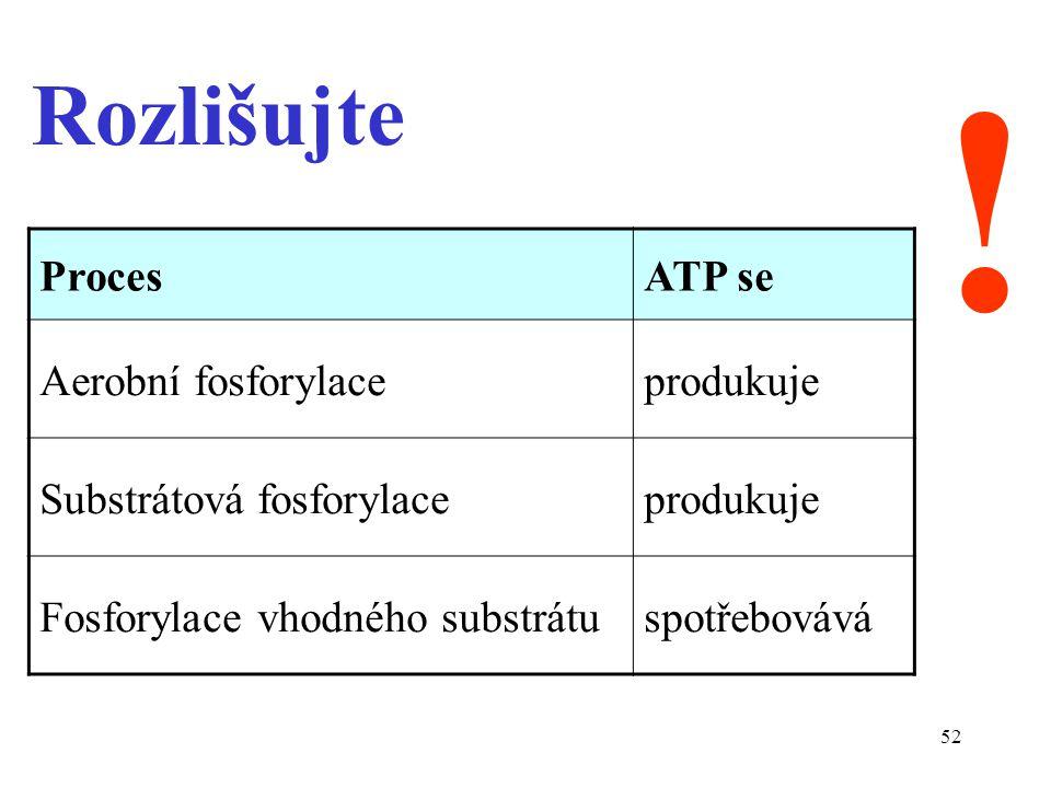 ! Rozlišujte Proces ATP se Aerobní fosforylace produkuje