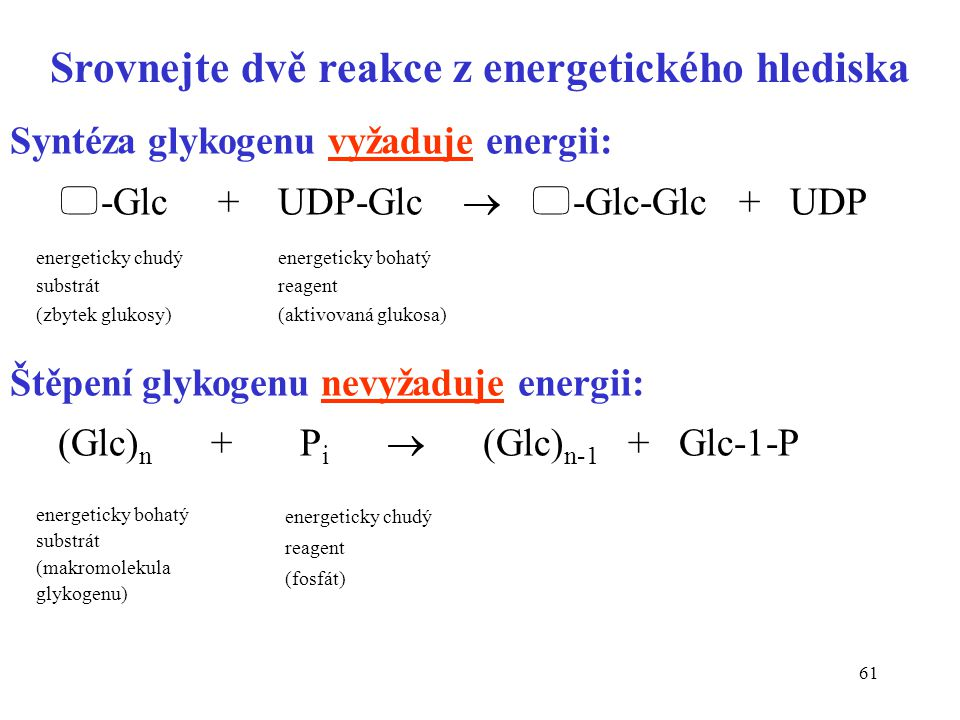 Srovnejte dvě reakce z energetického hlediska