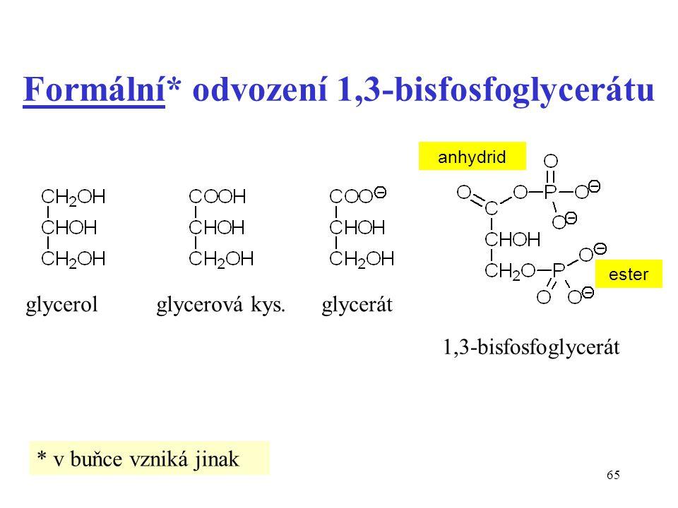 Formální* odvození 1,3-bisfosfoglycerátu