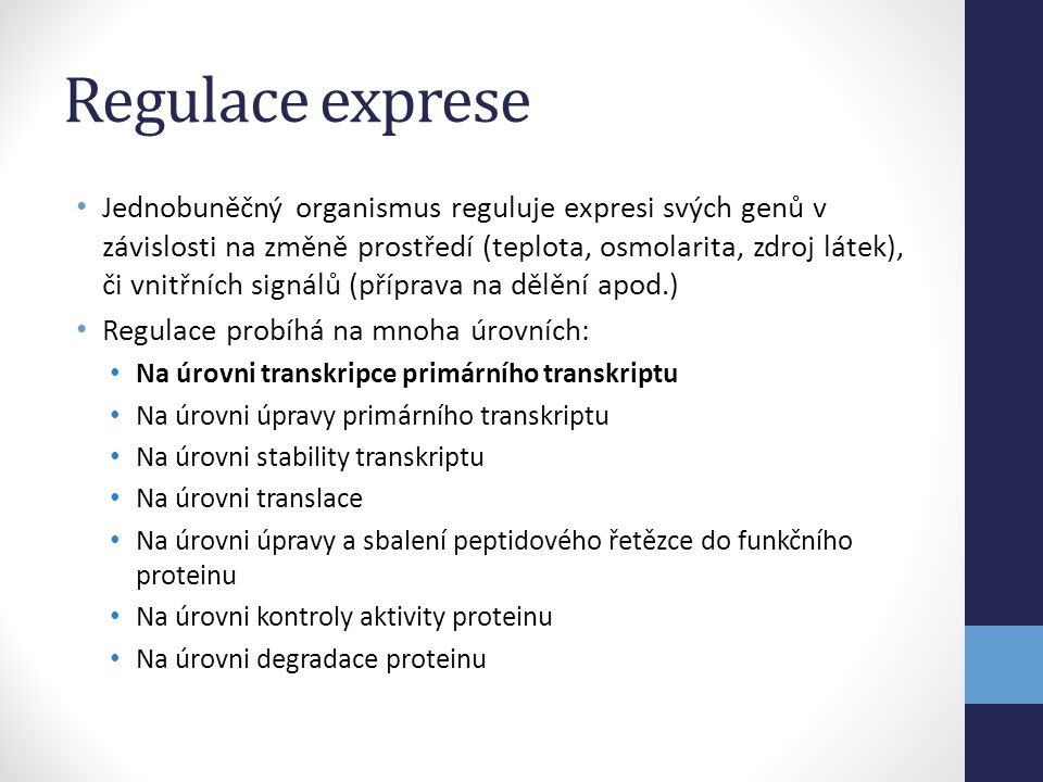 Regulace exprese