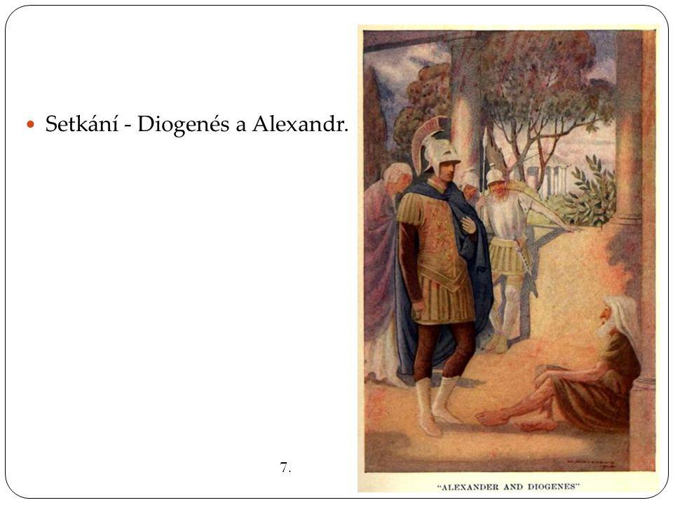 Setkání - Diogenés a Alexandr.