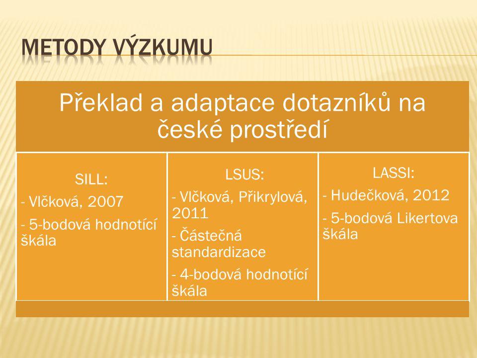 Překlad a adaptace dotazníků na české prostředí