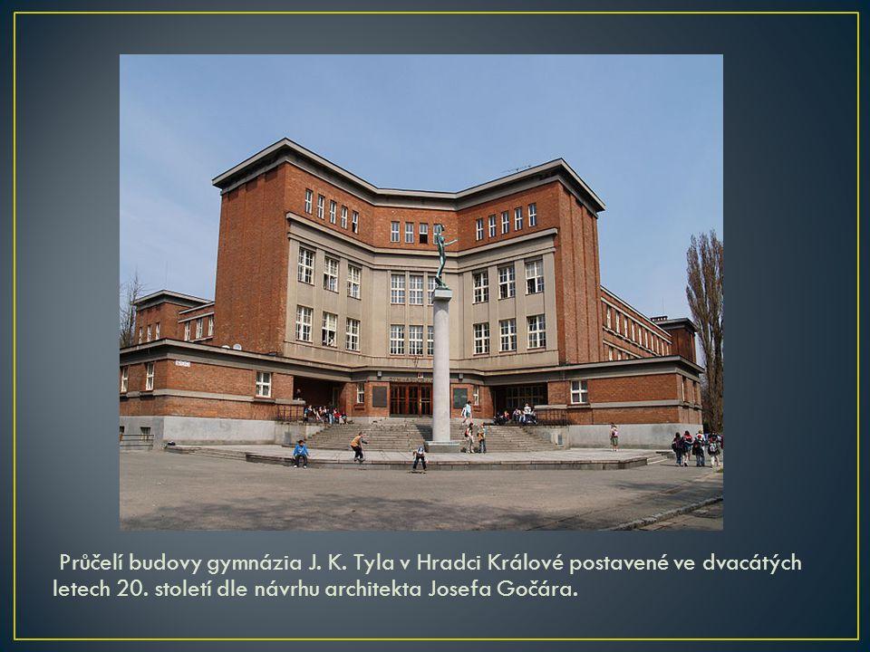 Průčelí budovy gymnázia J. K