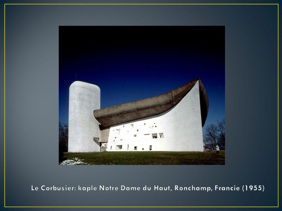 Le Corbusier: kaple Notre Dame du Haut, Ronchamp, Francie (1955)