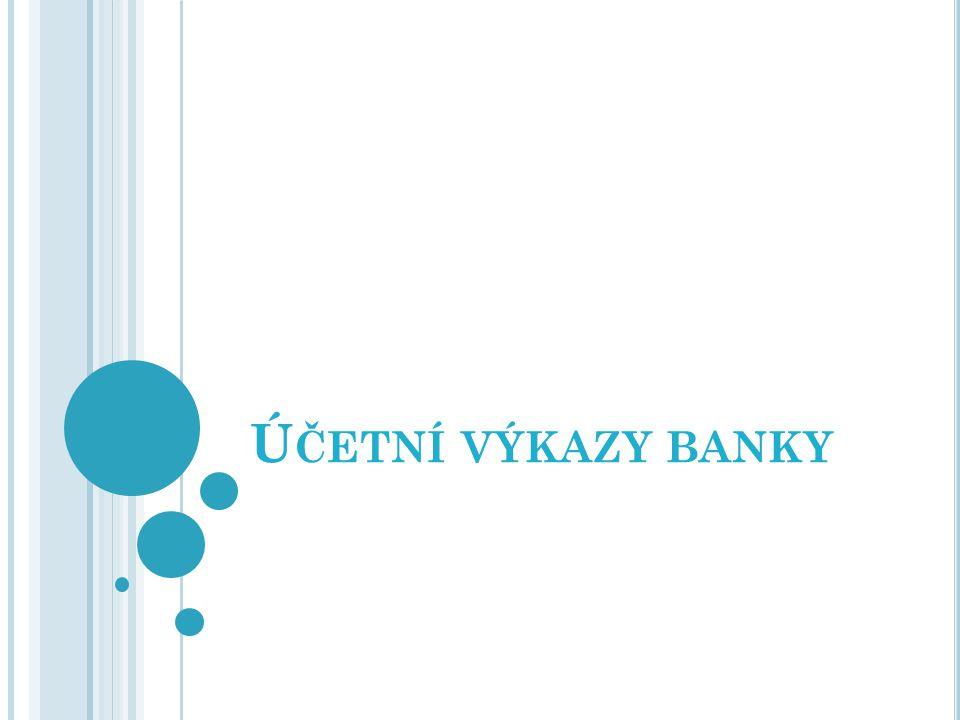 Účetní výkazy banky