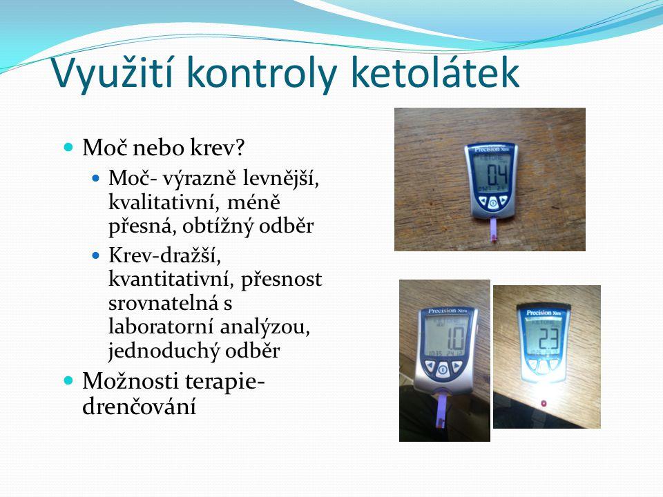 Využití kontroly ketolátek