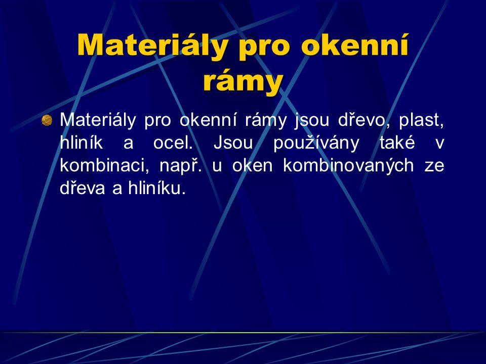 Materiály pro okenní rámy