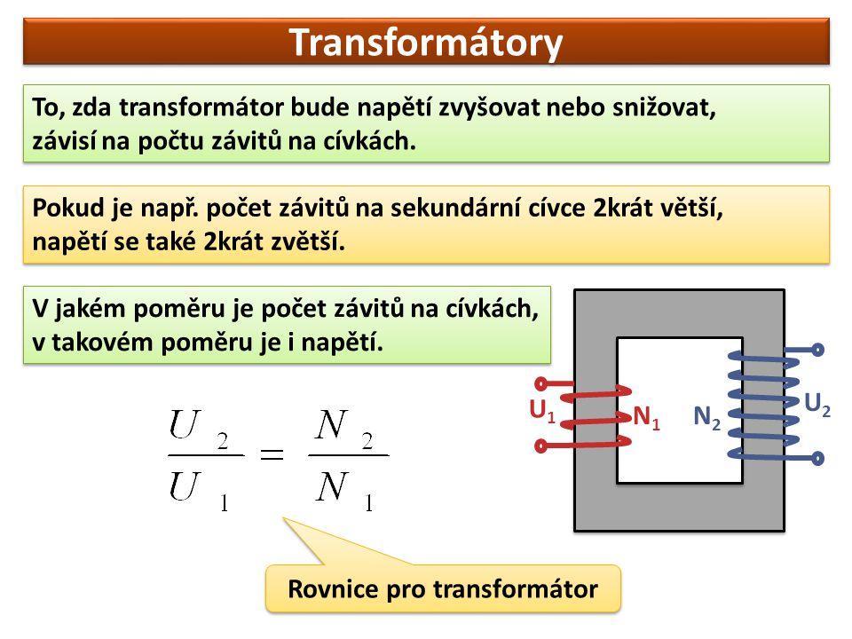 Rovnice pro transformátor