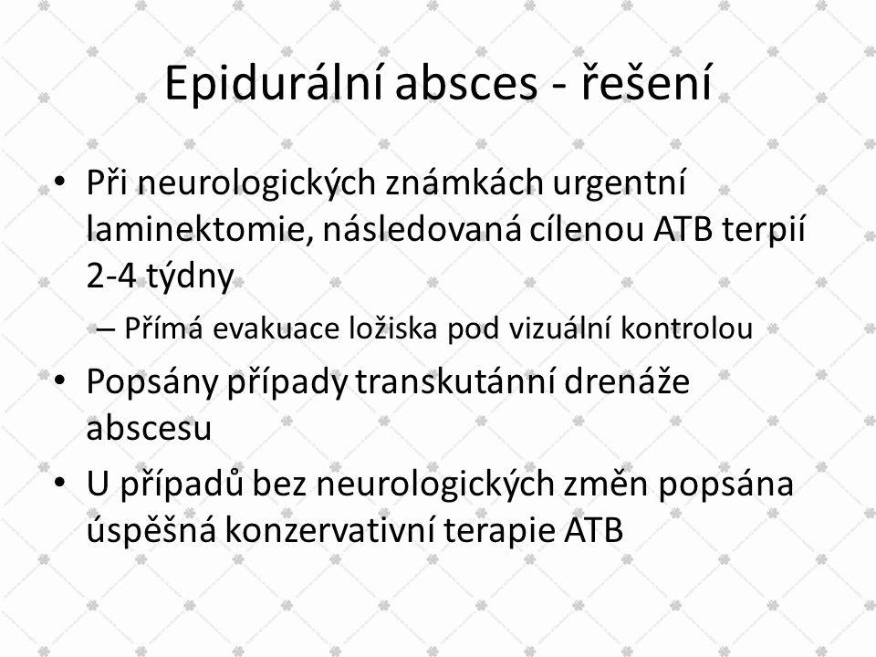 Epidurální absces - řešení