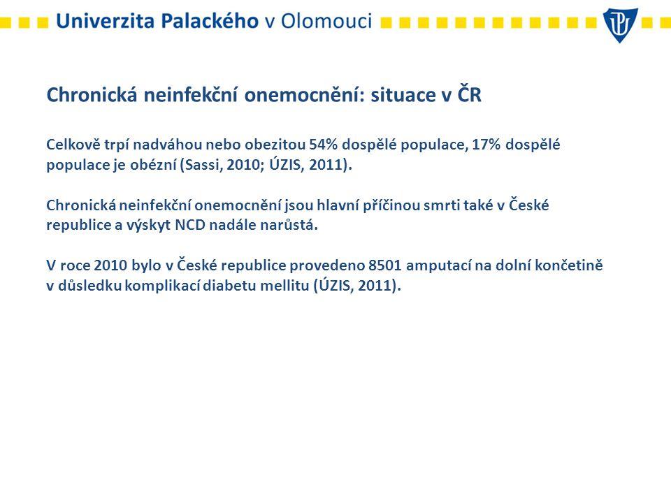 Chronická neinfekční onemocnění: situace v ČR