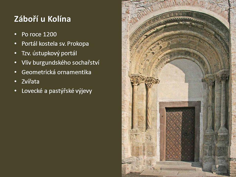 Záboří u Kolína Po roce 1200 Portál kostela sv. Prokopa