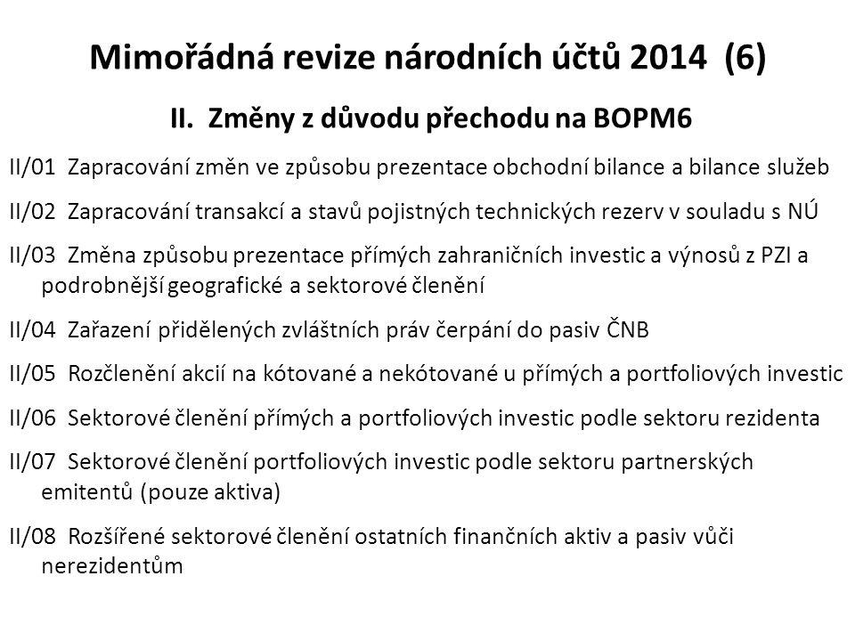 Mimořádná revize národních účtů 2014 (6) II