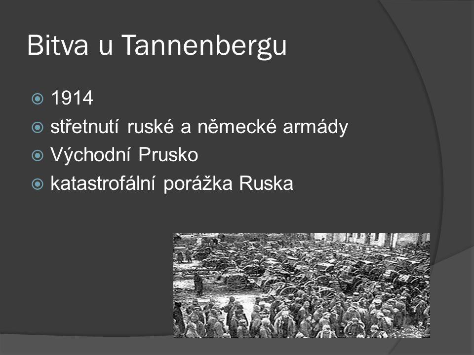 Bitva u Tannenbergu 1914 střetnutí ruské a německé armády