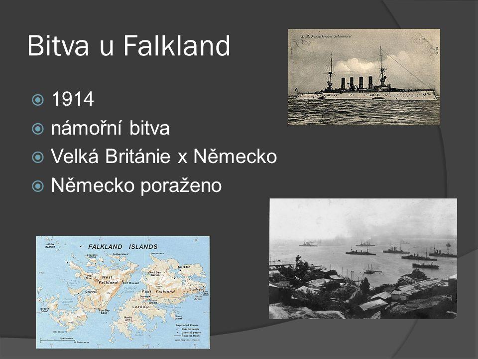 Bitva u Falkland 1914 námořní bitva Velká Británie x Německo