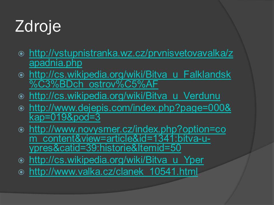 Zdroje http://vstupnistranka.wz.cz/prvnisvetovavalka/zapadnia.php