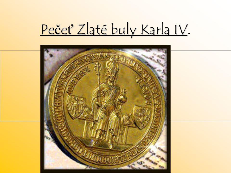 Pečeť Zlaté buly Karla IV.