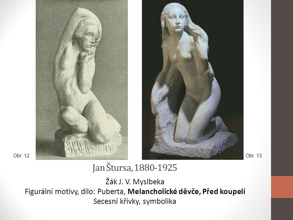 Jan Štursa, 1880-1925 Žák J. V. Myslbeka