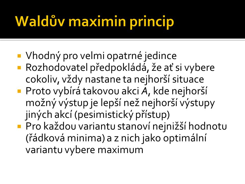 Waldův maximin princip