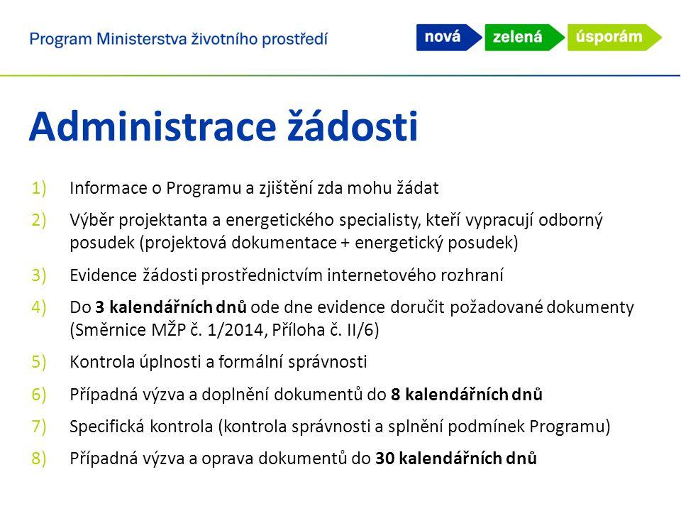 Administrace žádosti Informace o Programu a zjištění zda mohu žádat