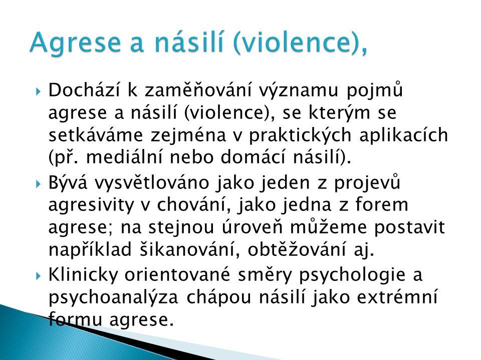 Agrese a násilí (violence),