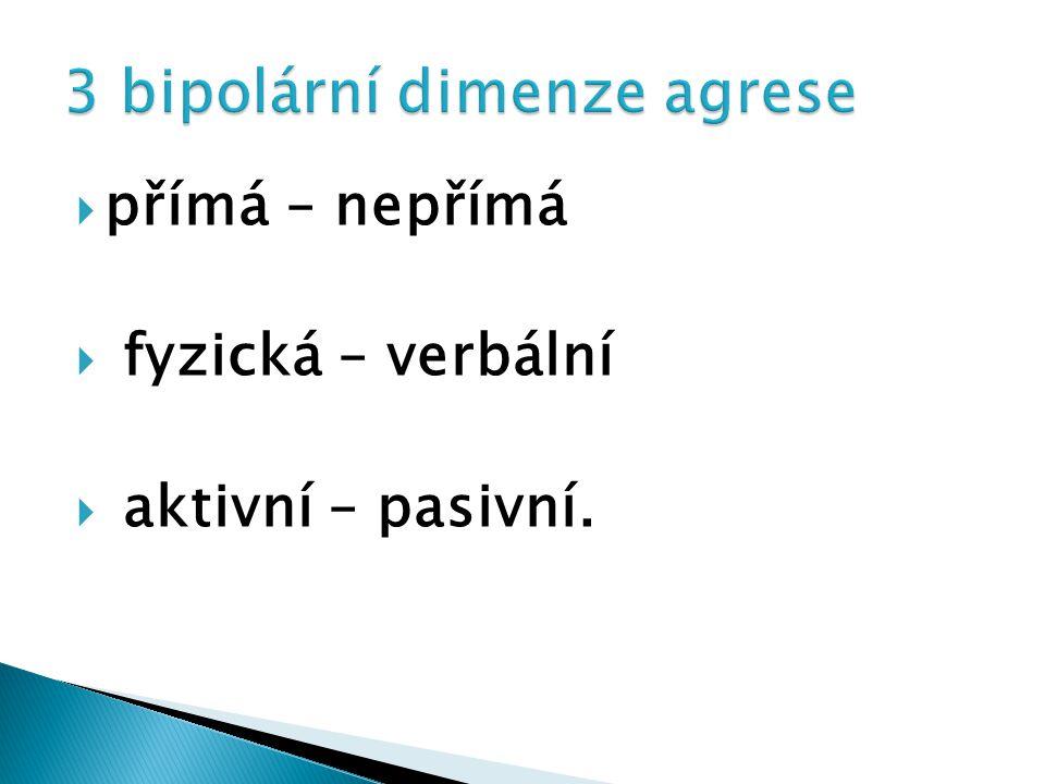 3 bipolární dimenze agrese