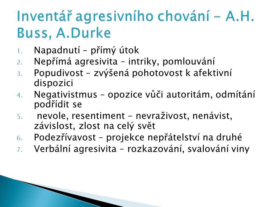 Inventář agresivního chování - A.H. Buss, A.Durke