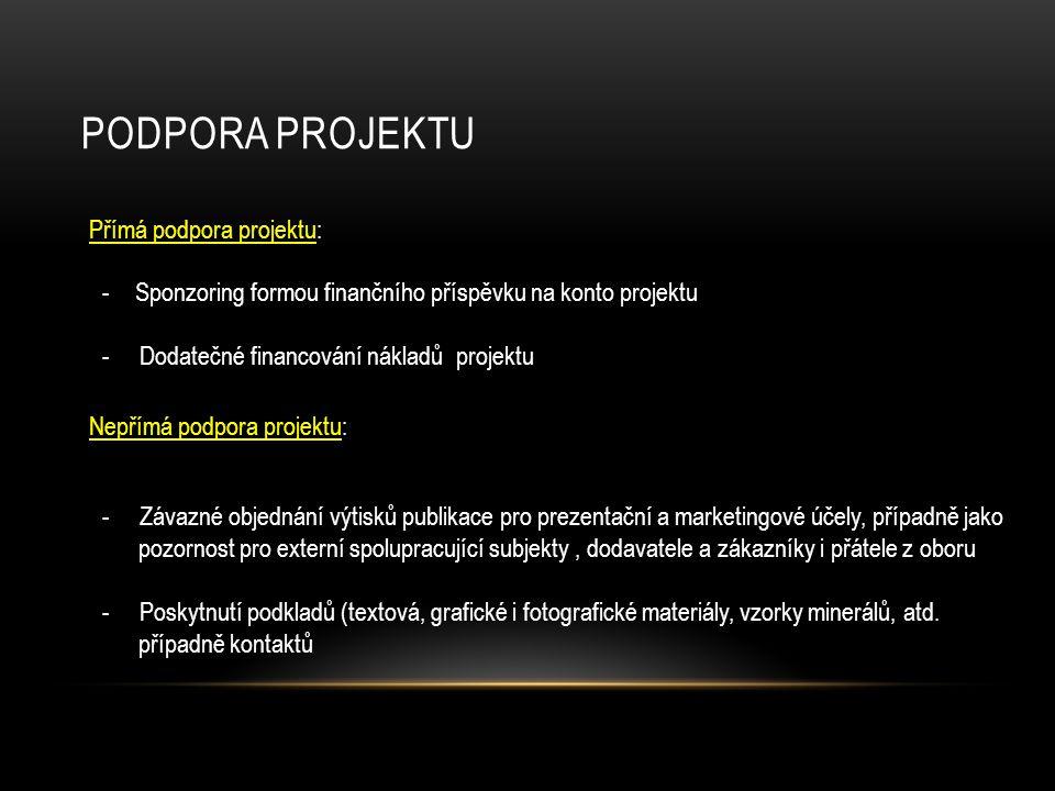 Podpora projektu Přímá podpora projektu: