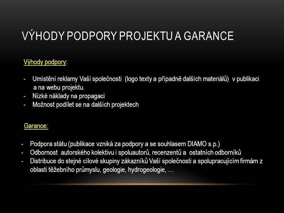 Výhody Podpory projektu a garance